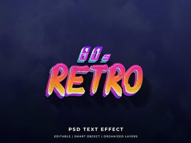 Jaren 80 retro tekst effect