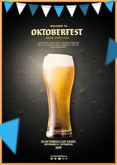 Jarra de cerveza sabrosa oktoberfest