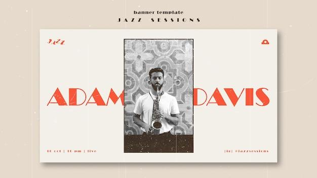 Jazz concept sjabloon voor spandoek