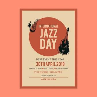 Jazz muziek poster mockup