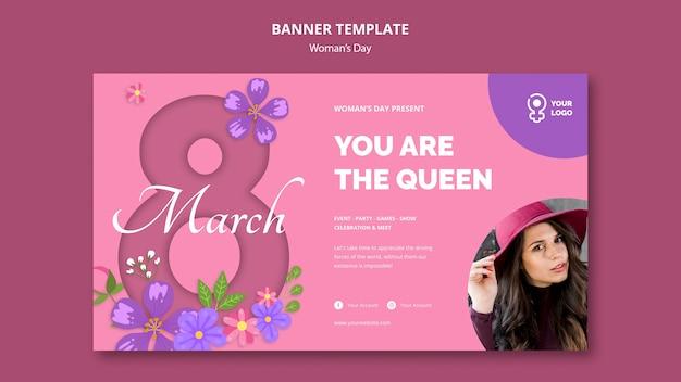 Je bent de koningin vrouwendag banner