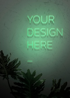 Je ontwerp hier is een neonbord