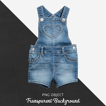 Jean-jumpsuit voor baby of kinderen op transparante achtergrond