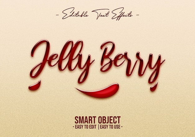 Jelly berry efecto de estilo de texto
