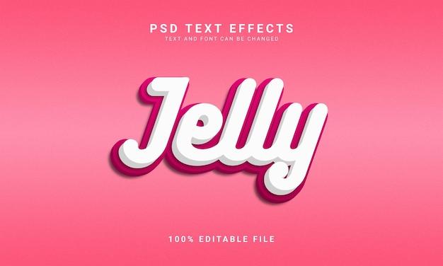 Jelly bewerkbare 3d-tekststijl
