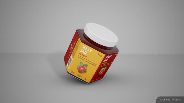 Jelly jar met label sticker mockup