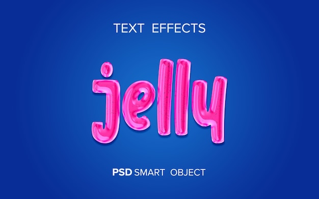 Jelly vloeibaar teksteffect