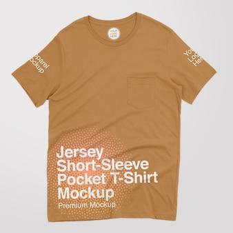 Jersey t-shirt met korte mouwen en zakmodel