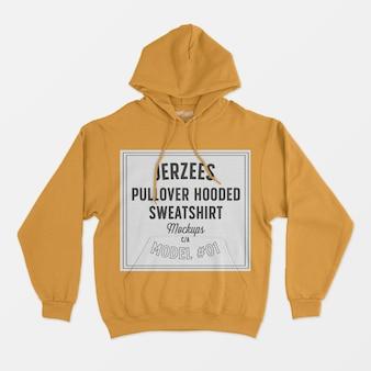Jerzees pullover sweater met capuchon mockup 01