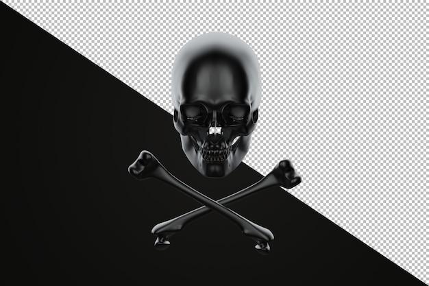 Jolly roger, teschio e ossa incrociate 3d'illustrazione
