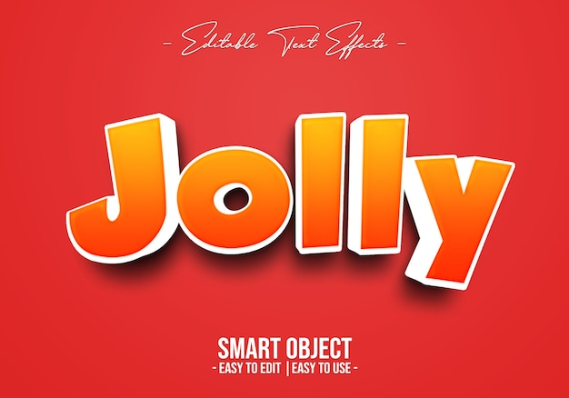 Jolly text style effect