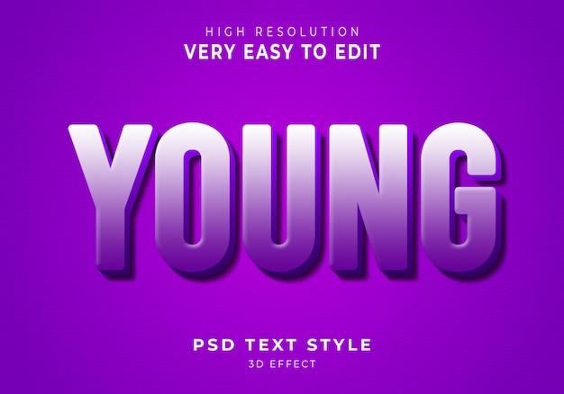 Jong modern teksteffect
