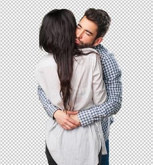 Jong verliefde paar