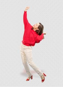 Jonge mooie vrouw dansen