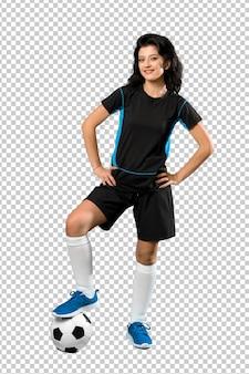 Jonge voetballer vrouw