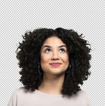 Jonge vrouw lachend en gelukkig
