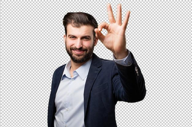 Jonge zakenman met een brein