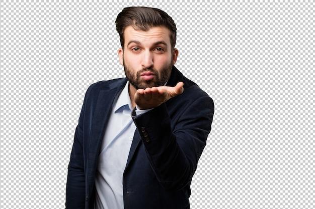 Jonge zakenman met een chronometer
