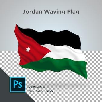Jordan flag wave transparant psd