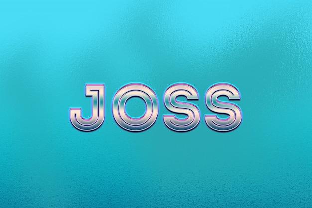 Joss-tekststijl