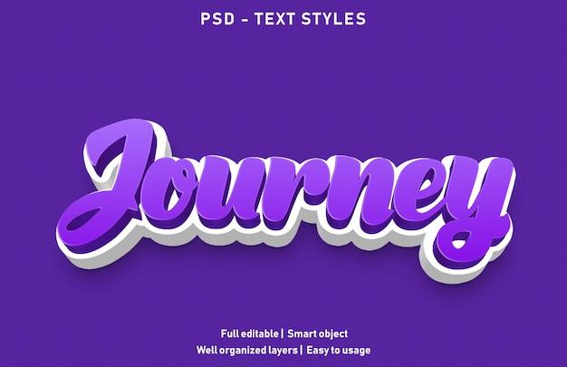 Journey teksteffecten stijl