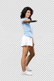 Joven tenista mujer