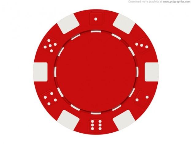 El juego de chips icono (psd)