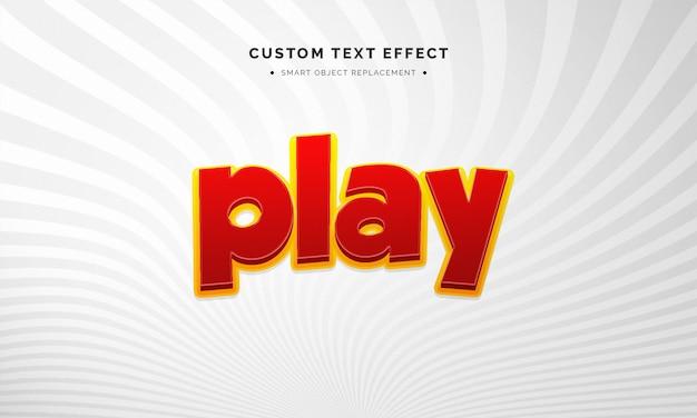 Juego de efecto de estilo de texto 3d