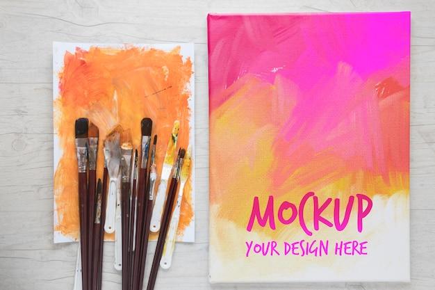 Juego de pinceles de pintura