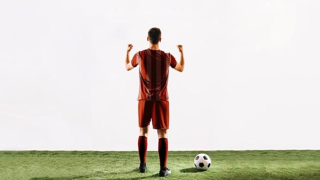 Jugador de fútbol celebrando