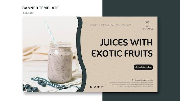 Juice bar banner sjabloonontwerp