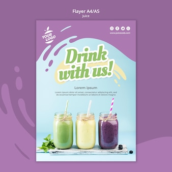 Juice bar flyer-sjabloon