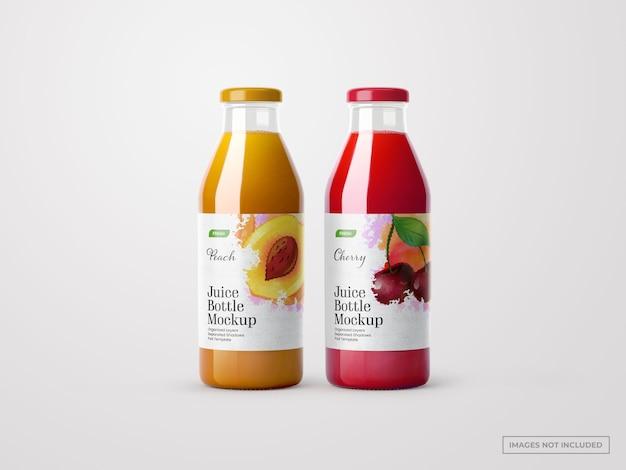 Juice flessen mockups