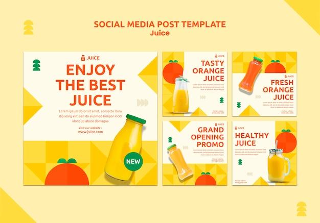 Juice sociale media plaatsen