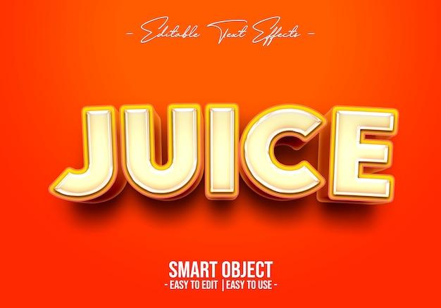 Juice tekststijleffect