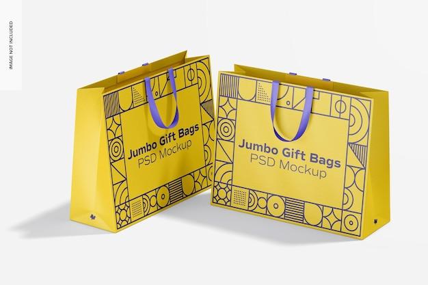 Jumbo-cadeauzakje met mockup met linthandvat