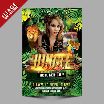 Jungle party-poster