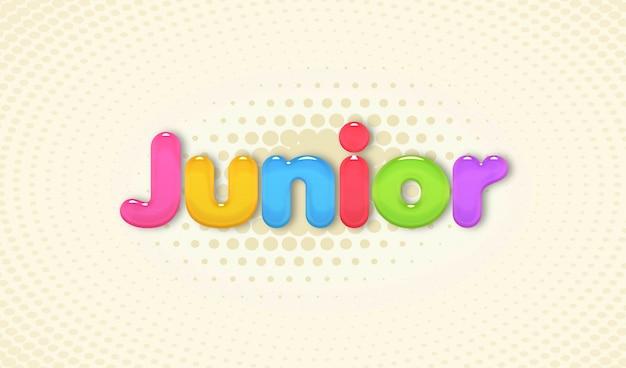 Junior-text-effect
