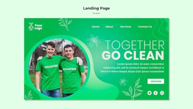 Juntos vamos a la página de inicio limpia