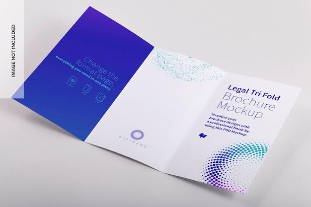 Juridische driebladige brochure mockup