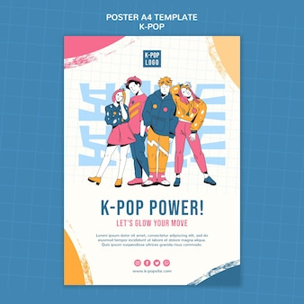 K-pop festival poster sjabloon