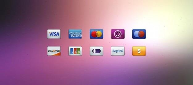 Kaart symbolen betaling iconen psd