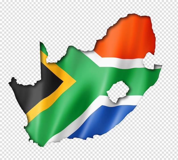 Kaart van zuid-afrikaanse vlag