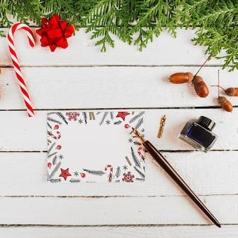 Kaartmodel met kerstmisconcept