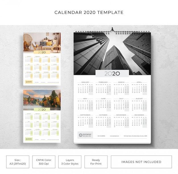 Kalender 2020-sjabloon
