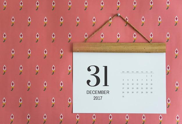 Kalender aan de muur