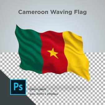 Kameroen vlaggolf transparant psd