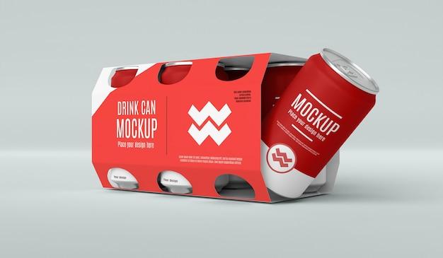 Kan mockup voor verpakking ontwerpen