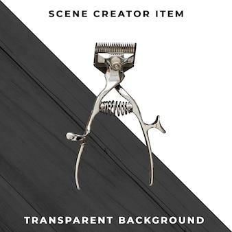 Kapper accessoire op transparant