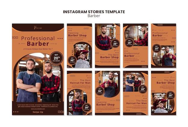 Kapper winkel instagram verhalen sjabloon